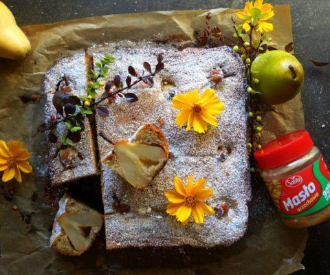 Ciasto z gruszkami i masłem orzechowym