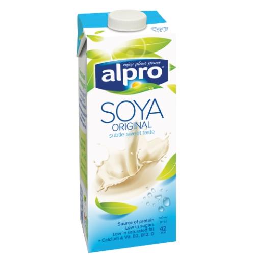 Alpro Napój Sojowy z Wapniem Naturalny 1 litr