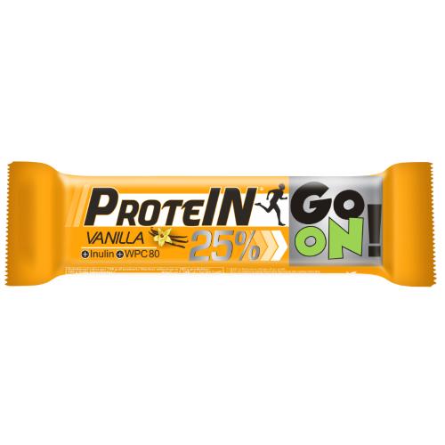 Baton proteinowy 25% GO ON waniliowy 50g