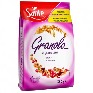 Granola z jagodą i granatem Sante 350g