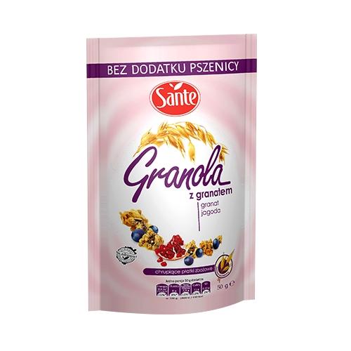 Granola z jagodą i granatem 50g