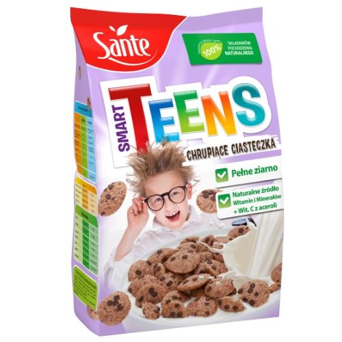 Płatki śniadaniowe Smart Teens chrupiące ciasteczka 250g