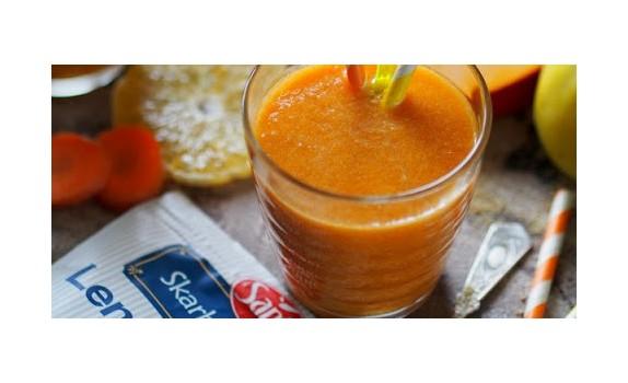 Słoneczny sok ze złotym lnem. Jesienna bomba witaminowa