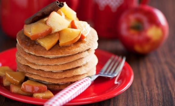 Placuszki z jabłkiem i otrębami