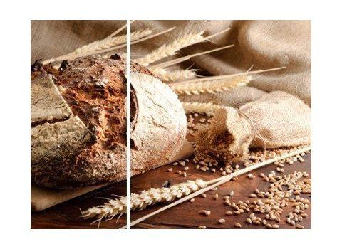 Chleb z płatkami owsianymi i siemieniem lnianym