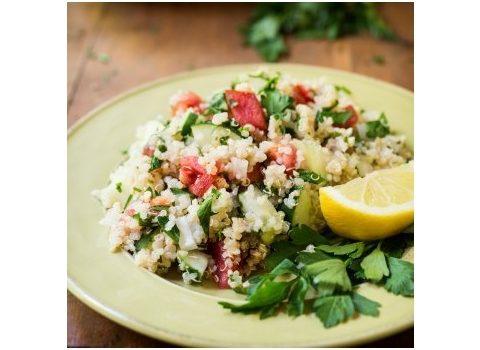 Quinoa z pieczonymi warzywami
