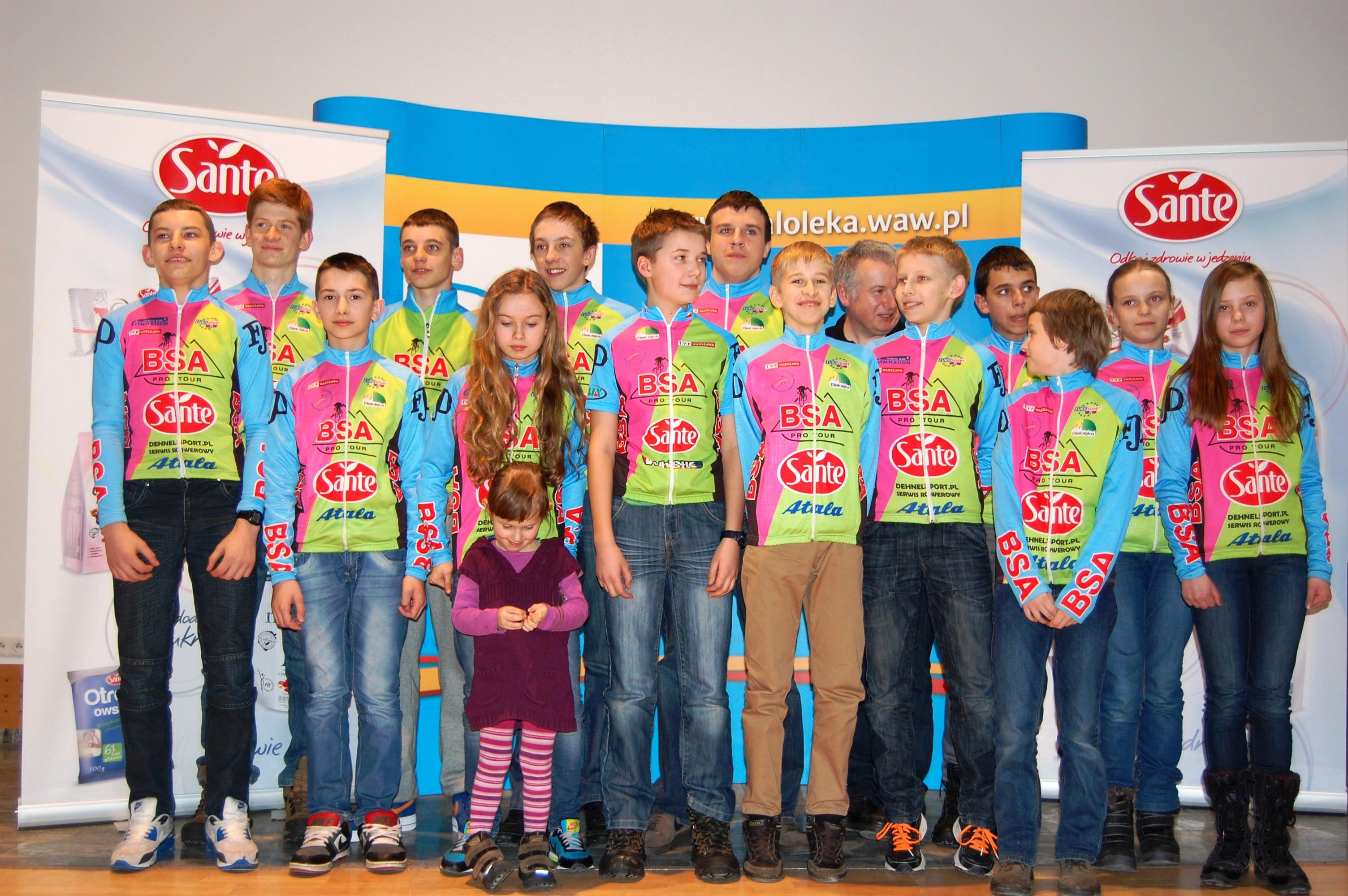 Firma SANTE tytularnym sponsorem grupy kolarskiej BSA