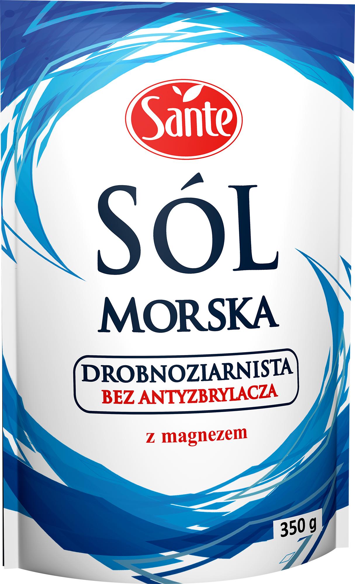 Sól morska jodowana drobnoziarnista 350g
