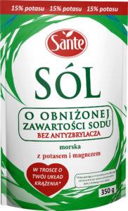 Sól morska jodowana o obniżonej zawartości sodu