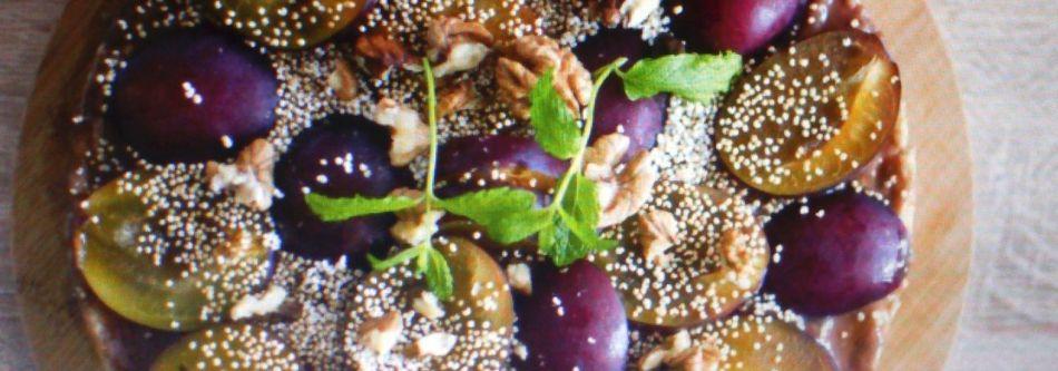 Sernik quinoa z masłem orzechowym