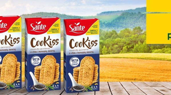 Sante Cookiss jęczmienne – niższy cholesterol dzięki beta-glukanom