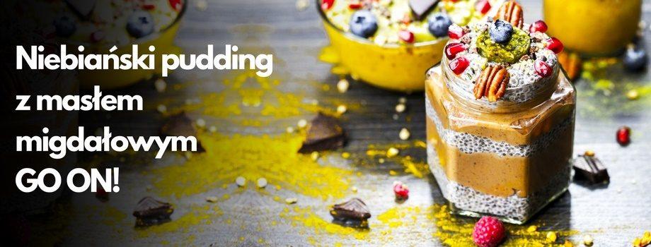 niebiański pudding z masłem migdałowym GO ON