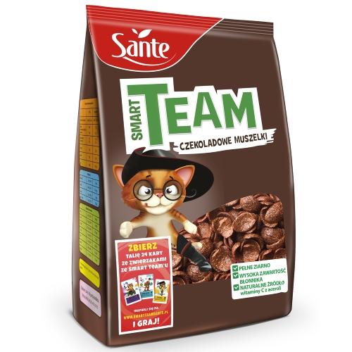 Płatki śniadaniowe Smart Team czekoladowe muszelki 250g
