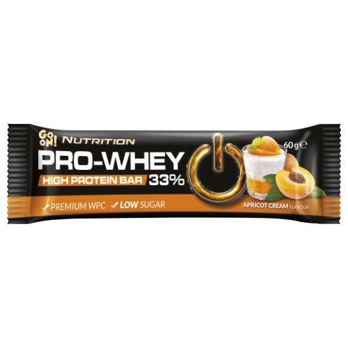 Baton proteinowy 33% krem morelowy 60g GO ON Nutrition