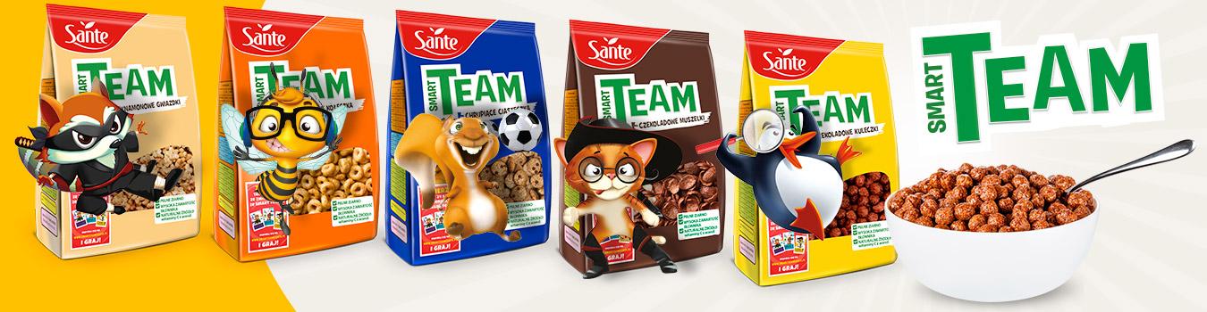Płatki śniadaniowe dla dzieci Smart Team