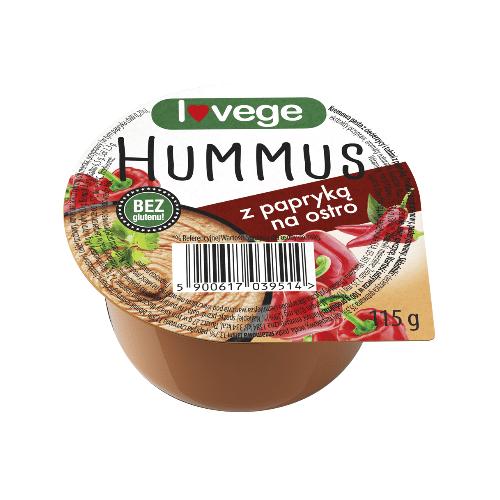 Hummus Lovege z paparyką na ostro 115g
